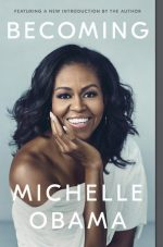 Michelle Obama on the cover of Becoming
