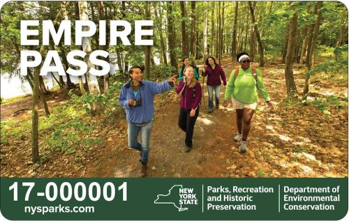 women hiking on the Empire Pass for New York State Parks